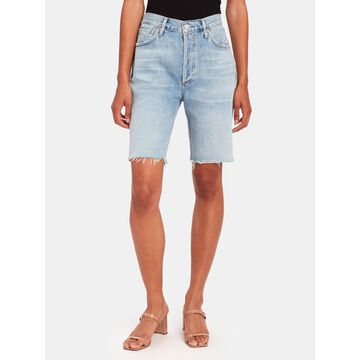 Citizens of Humanity Claudette High Rise Mid Length Relaxed Shorts - Twilight (Blue)