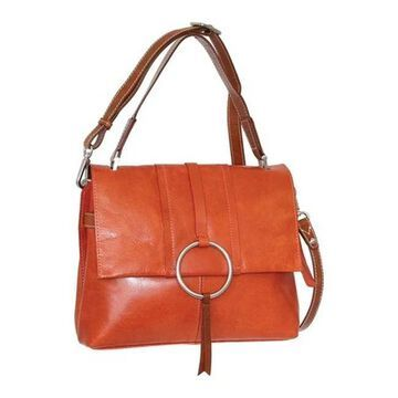 Nino Bossi Women's Nyla Leather Satchel Brick - US Women's One Size (Size None)