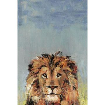 Marmont Hill Bonjour Lion II 24-Inch x 16-Inch Canvas Wall Art