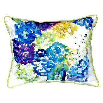 Betsy's Hydrangea Small Indoor/Outdoor Pillow, 11