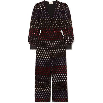 Temperley London - Wendy Sequined Chiffon Jumpsuit - Black