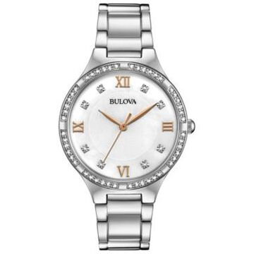 Bulova Women's Stainless Steel Bracelet Watch 34mm