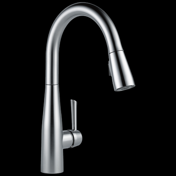 Delta Essa Single Handle Pull-Down Kitchen Faucet in Arctic Stainless 9113-AR-DST