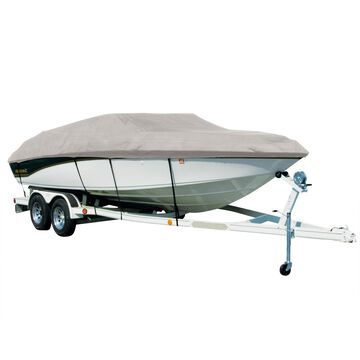 Covermate Sharkskin Plus Exact-Fit Cover for Monterey 234 Fs 234 Fs W/Bimini Laid Down I/O. Silver