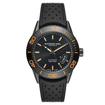 Raymond Weil Men's 2760-SB2-20001 'Freelancer' Automatic Black Rubber Watch