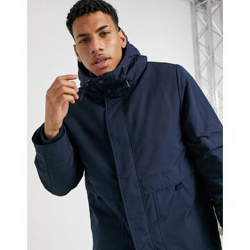 Selected Homme parka with recycled padding in navy