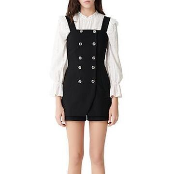 Maje Ipyta Button-Front Romper