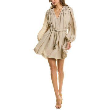 Lisa Marie Fernandez Poet Linen-Blend A-Line Dress