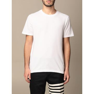 Thom Browne T-shirt Thom Browne Cotton T-shirt With Striped Detail