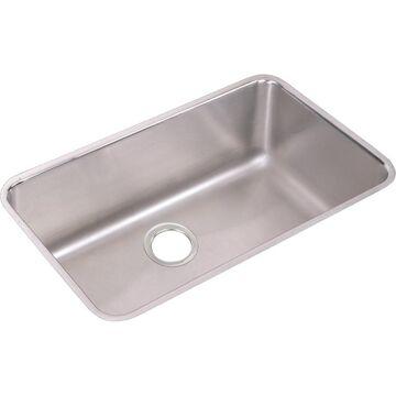 Elkay Gourmet Undermount 30.5-in x 18.5-in Stainless Steel Single Bowl Kitchen Sink