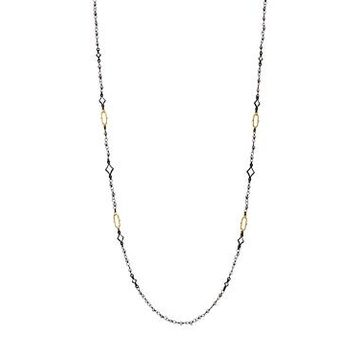 Armenta 18K Yellow Gold & Blackened Sterling Silver Old World Crivelli Moonstone Beaded Necklace, 36