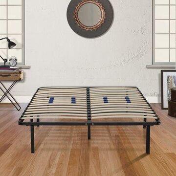 """Premier Flex 14"""" Platform Metal Bed Frame with Adjustable Lumbar Support, Full"""