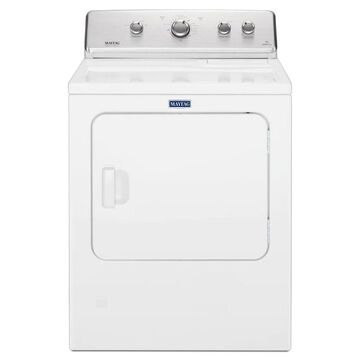 Maytag 7.0-cu ft Large Capacity Vented Electric Dryer with Wrinkle Control - White | MEDC465HW