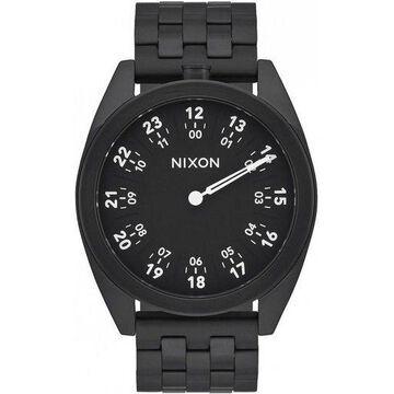 Nixon A920001 Mens Black Steel Bracelet With Black Analog Dial Genuine Watch