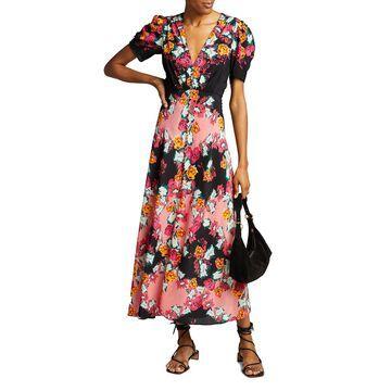 Lea Printed Long Dress
