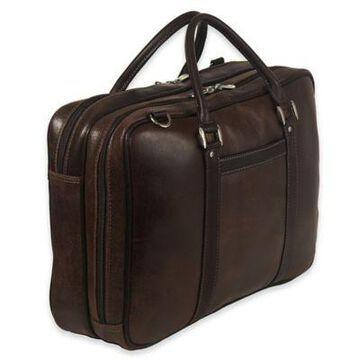 Piel Leather Vintage Laptop Case in Brown