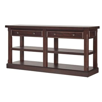 Grafton Traditional TV Stand Entry Console - Distressed Espresso - Inspire Q