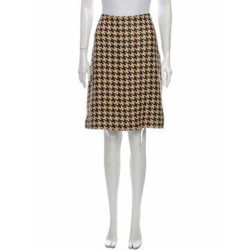 Leather Knee-Length Skirt Brown