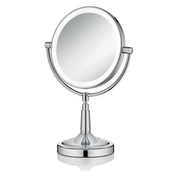 Afina 5x Round LED Lighted Table Top Magnifying Mirror