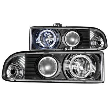 ANZO USA 111015 98-04 S10 PROJECTOR WITH HALO BLACK HEADLIGHTS