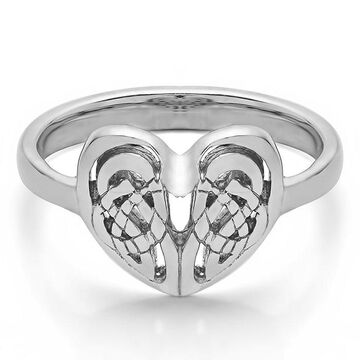 TwoBirch 14k Gold Celtic Heart Ring