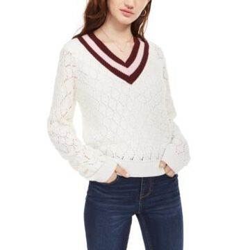 Planet Gold Juniors' Pointelle Sweater