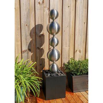 Design Craft Jessie Stainless Steel 51-inch Height Outdoor Floor Fountain
