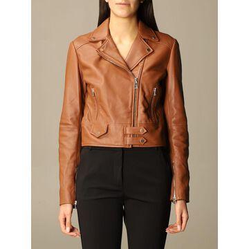 Pinko Leather Jacket With Zip