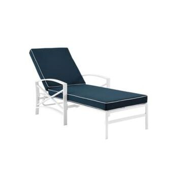 Crosley Kaplan Chaise Lounge Chair With Cushion Cover