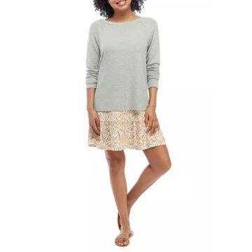 Wallflower Women's Junior's Sweater And Floral Dress Set - -