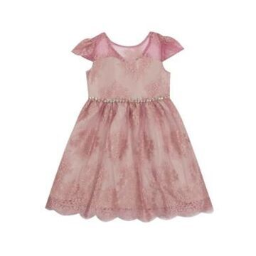 Rare Editions Little Girl Lace Illusion Dress