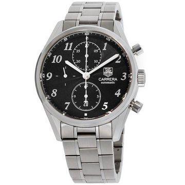 Tag Heuer Carrera Heritage Black Dial Stainless Steel Men's Watch CAS2110BA0730