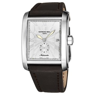 Raymond Weil Men's 2875-STC-00658 'Don Giovanni' Silver Dial Brown Leather Strap Automatic Watch