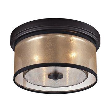 Westmore Lighting Sandbar 13-in Oil Rubbed Bronze Flush Mount Light