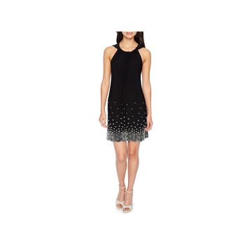 MSK Sleeveless Beaded Shift Dress