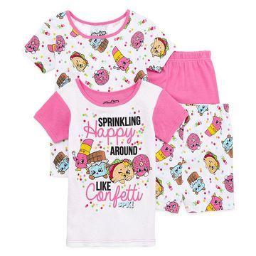 Shopkins Girls 4-pc. Shopkins Pajama Set Preschool / Big Kid