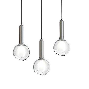 Estiluz Luck Linear Chandelier - Color: White - Size: 4 light - Luck.L92.4-26-27