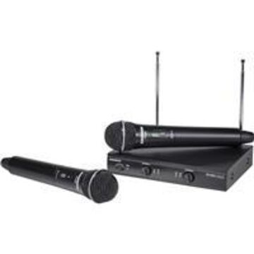 Samson Stage 200 Dual-Channel Handheld VHF Wireless System, Includes 1x SR200 Receiver, 2x VH200 Transmitter, Group B