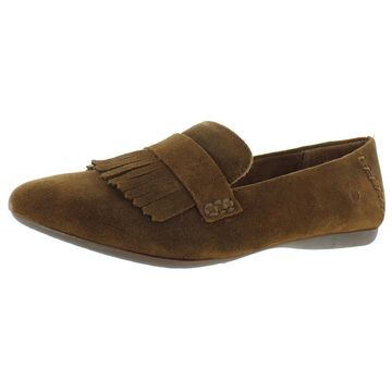 Born Womens Mcgee Suede Slip On Loafers