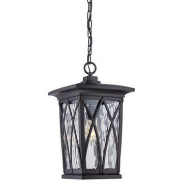 Quoizel Grover Hanging Outdoor Lantern in Mystic Black