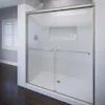 Basco Celesta 56-in to 60-in W Semi-frameless Bypass/Sliding Brushed Nickel Shower Door