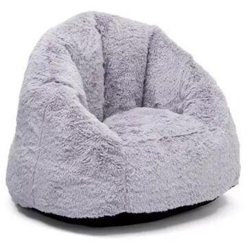 Delta Children Snuggle Foam Filled Chair Tween Size In Grey