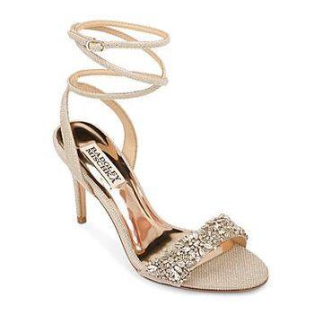 Badgley Mischka Women's Jen Embellished Strappy High-Heel Sandals