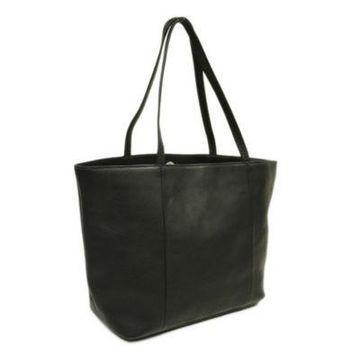 Piel Leather Women's Tote in Black