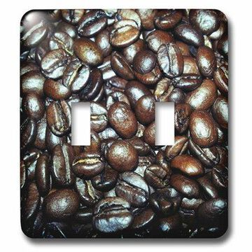 3dRose Coffee Bean, Double Toggle Switch