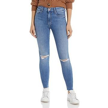 Mother High Waist Looker Skinny Ankle Jeans in Spice It Up