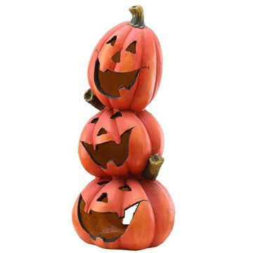 National Tree Company Stacked Pumpkins Halloween Decor