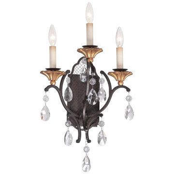 Minka Metropolitan Cortona 3 Light Wall Sconce (Bronze)