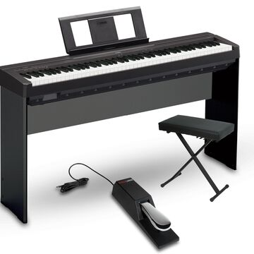 P-45 88-Key Weighted Action Digital Piano Package Black Intermediate Home Package