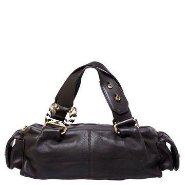 Bvlgari Dark Brown Leather Leoni Satchel